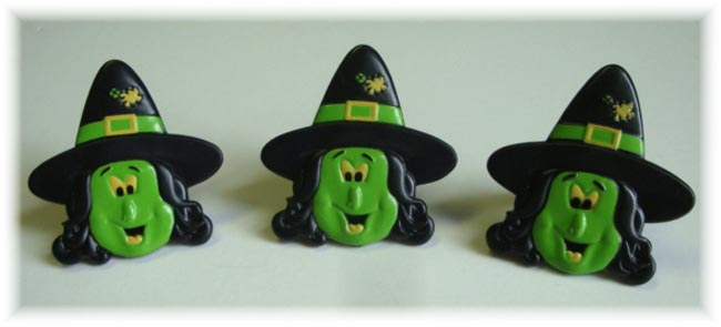 5PC OOAK HALLOWEEN WITCH CUPCAKE RINGS FOR HAIRBOWS