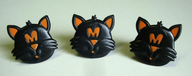 12PC HALLOWEEN CAT CUPCAKE RINGS FOR HAIRBOWS