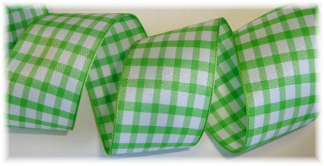 1.5 LIME GINGHAM CHECK - 5 YARDS