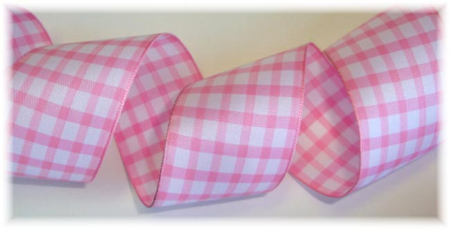 1.5 PINK GINGHAM CHECK - 5 YARDS