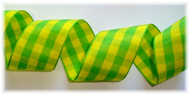 1.5 OOAK LIME YELLOW BOLD CHECK - 5 YD