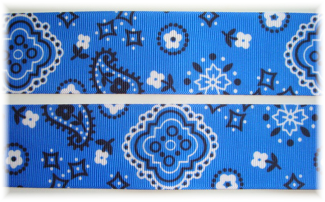1.5 ROYAL COWGIRL  BANDANA - 5 YARDS