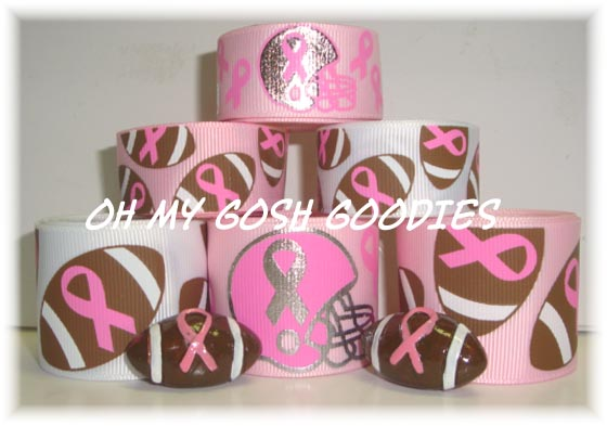 PINK RIBBON AWARENESS FOOTBALL RIBBON MIX