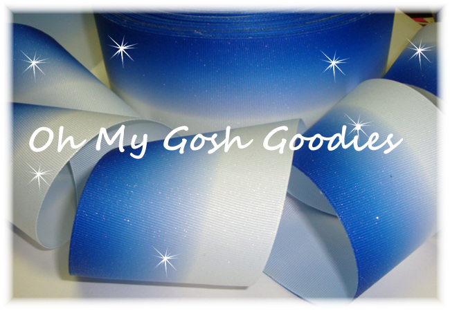 "3"" GLITTER ROYAL OMBRE CHEER - 5 YARDS"
