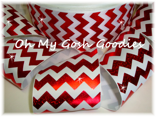 "3"" HOLOGRAM RED CHEVRON *WHITE* - 5 YARDS"