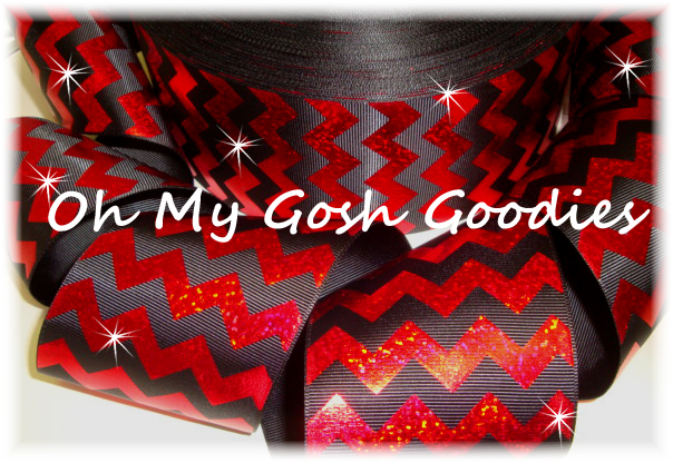 "3"" HOLOGRAM RED CHEVRON BLACK - 5 YARDS"