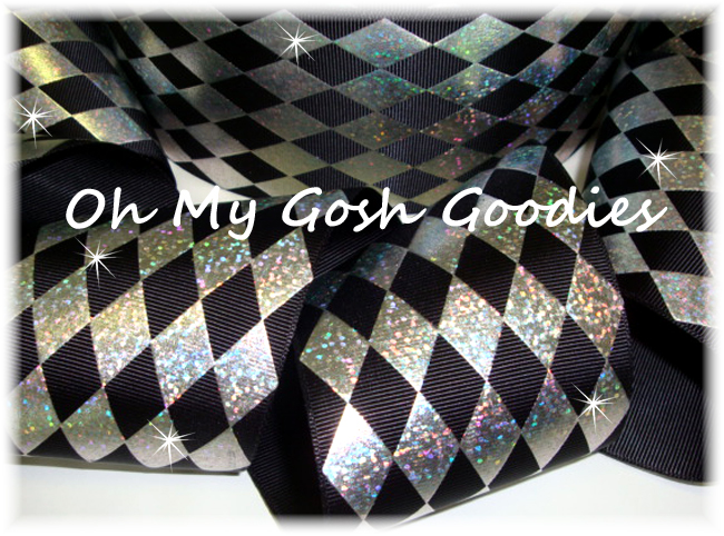 "3"" HOLOGRAM JESTER BLACK SILVER - 5 YARDS"