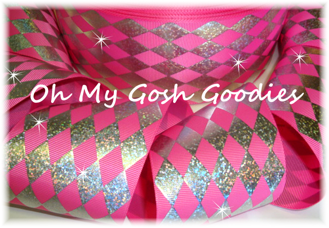 "3"" HOLOGRAM JESTER HOT PINK SILVER - 5 YARDS"