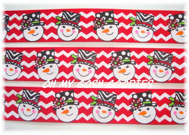 7/8 OOAK RED SWANKY ZEBRA SNOWMEN - 3 1/3 YARDS