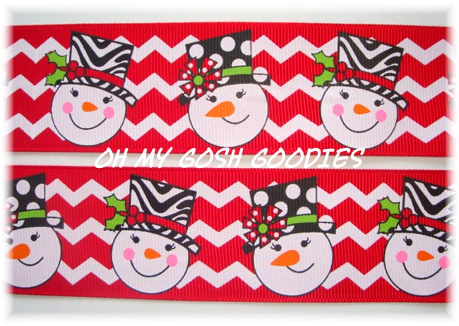1.5 RED SWANKY ZEBRA SNOWMEN - 5 YARDS