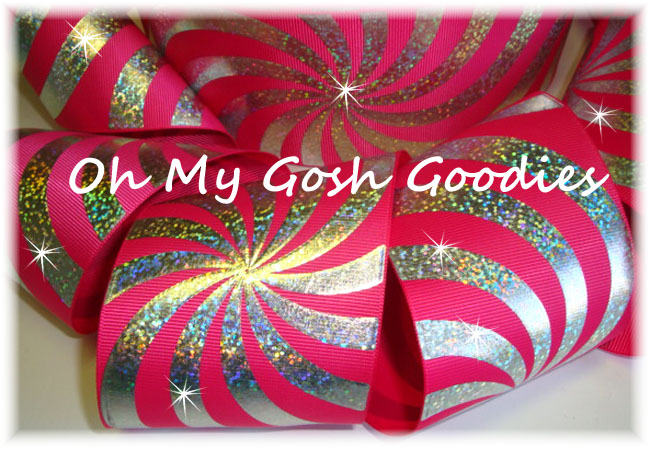 "3"" PSYCHEDELIC HOLOGRAM SHOCKING PINK - 5 YARDS"