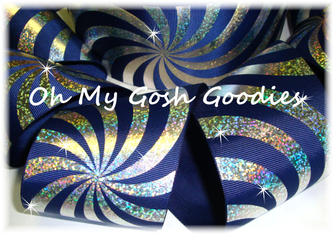 "3"" PSYCHEDELIC HOLOGRAM NAVY - 5 YARDS"
