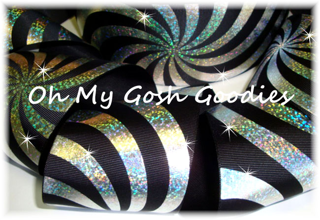 "3"" PSYCHEDELIC HOLOGRAM BLACK - 5 YARDS"