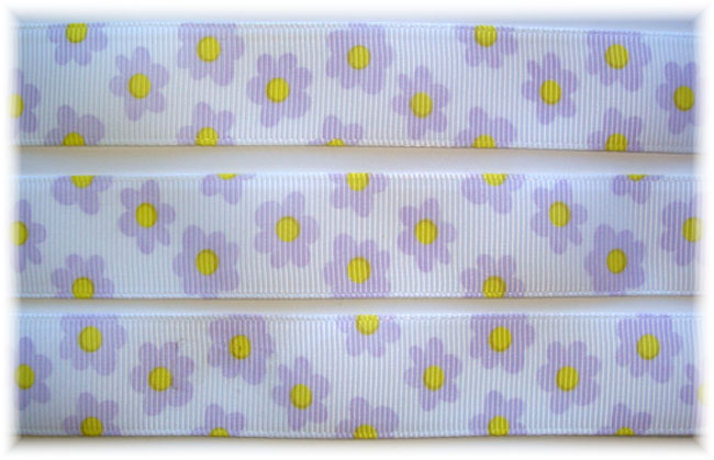 7/8 WHITE BITTY ORCHID FLOWERS - 5 YARDS
