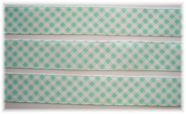 7/8 OOAK MINT VENUS GINGHAM CHECK - 7+ YARDS