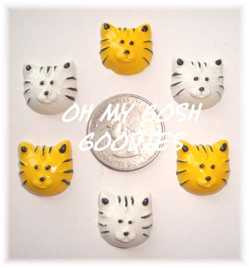 2PC LIL TIGER FACE RESINS