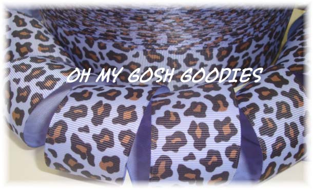 1.5 ORCHID LEOPARD PRINT - 5 YARDS