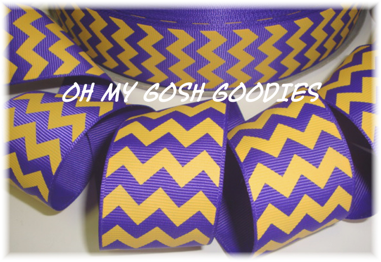 2 1/4 OOAK PURPLE GOLD CHEVRON - 4 1/2 YARDS