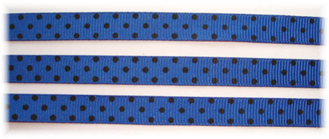 3/8 ROYAL BLACK SWISS DOTS - 5 YARDS