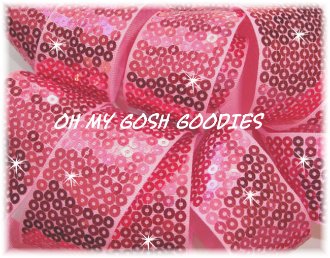 "3"" OOAK SHINY SEQUIN PINK - 4 3/4 YARDS"