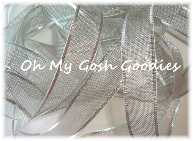 "1"" SILVER SHIMMER SHEER - 5 YARDS"
