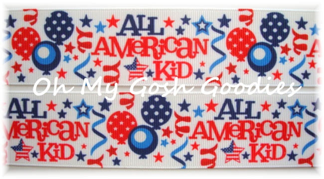 1.5 OOAK ALL AMERICAN KID PATRIOTIC - 4 YARDS