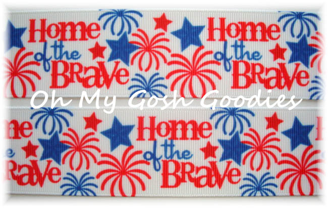 1.5 HOME OF THE BRAVE PATRIOTIC - 5 YARDS