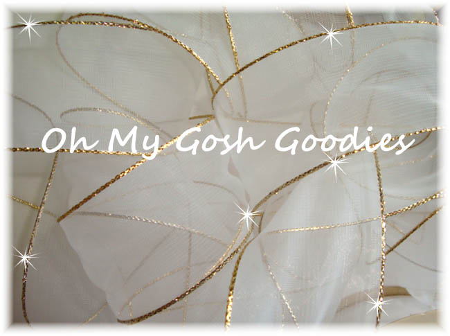 7/8 GOLD METALLIC EDGED SHEER ORGANZA - 5 YARDS