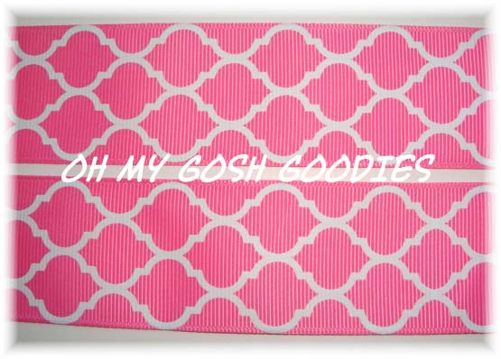 1.5 QUATREFOIL HOT PINK - 5 YARDS