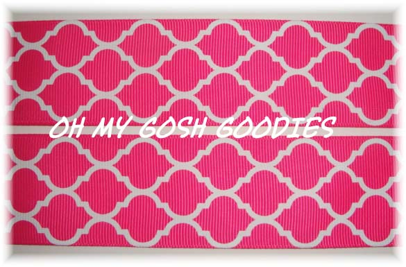 2 1/4 QUATREFOIL SHOCKING PINK - 5 YARDS