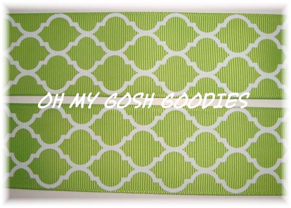 2 1/4 QUATREFOIL LIME - 5 YARDS
