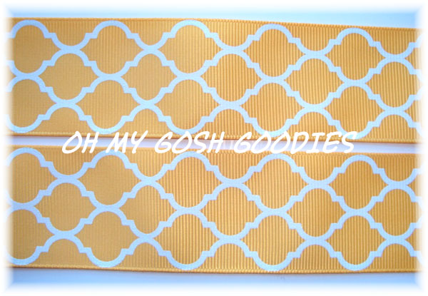 2 1/4 QUATREFOIL YELLOW - 5 YARDS