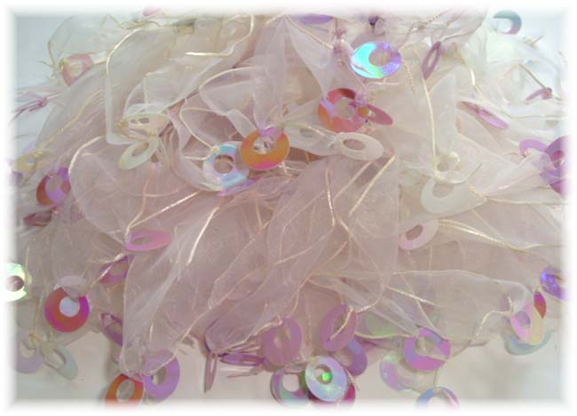 2PC PONY-O WHITE ORCHID SPANGLE EMBELLISHMENTS PS24