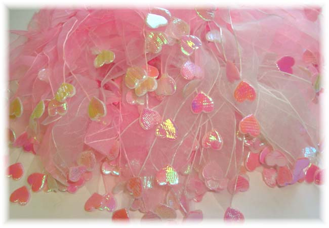 6PC OOAK PONY-O PINK HEART EMBELLISHMENTS PS46