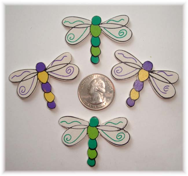 4PC DRAGONFLY EMBELLISHMENTS
