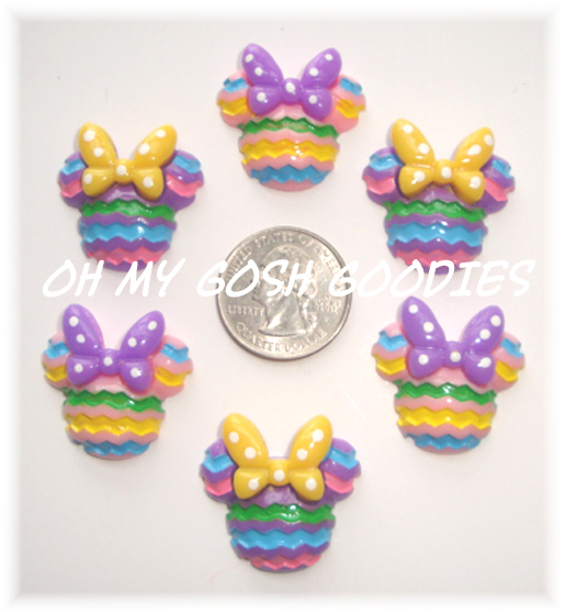 2PC PASTEL CHEVRON MINNIE RESINS ASST
