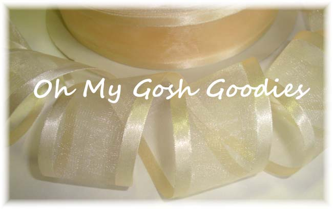 1.5 EASTER IVORY SATIN / SHEER ORGANZA - 5 YARDS