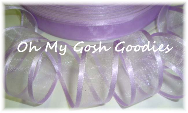 7/8 EASTER ORCHID SATIN / SHEER ORGANZA - 5 YARDS