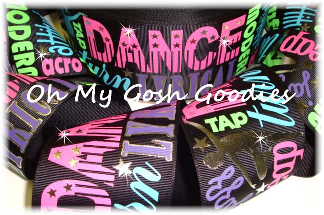 "3"" JUST SAYIN * DANCE * BLACK - 5 YARDS"
