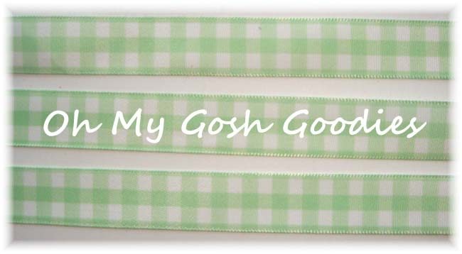 5/8 MINT WHITE BOLD CHECK RIBBON - 5YD