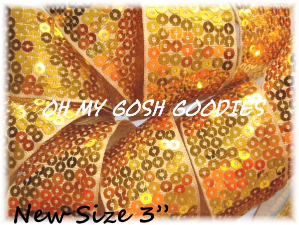 2 1/4 OOAK SHINY SEQUIN GOLD - 2 1/3 YARDS