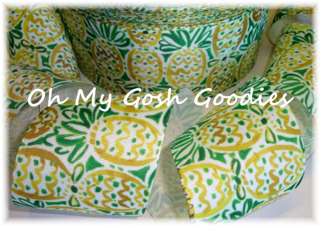 "3"" DESIGNER * RESORT * PINEAPPLE  - 5 YARDS"