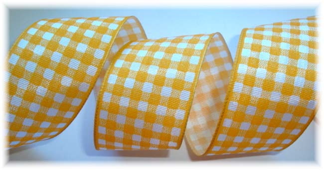 1.5 OOAK YELLOW GOLD GINGHAM CHECK WIRED - 3 YARDS