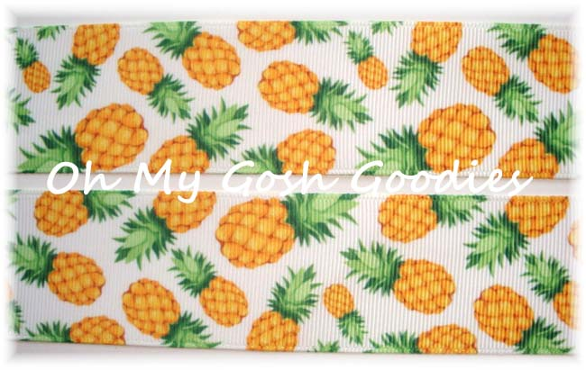 7/8 DESIGNER PINEAPPLE * PATCH * - 5 YARDS