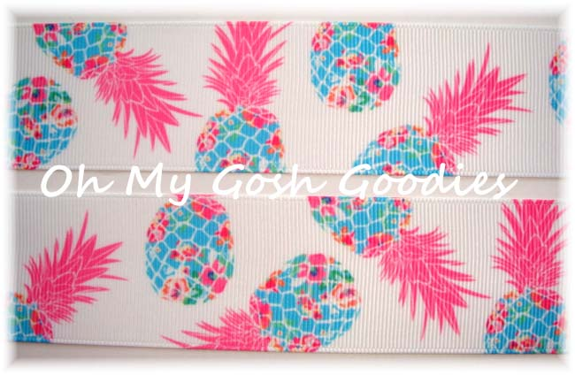 7/8 DESIGNER PINEAPPLE * PARTY * - 5 YARDS