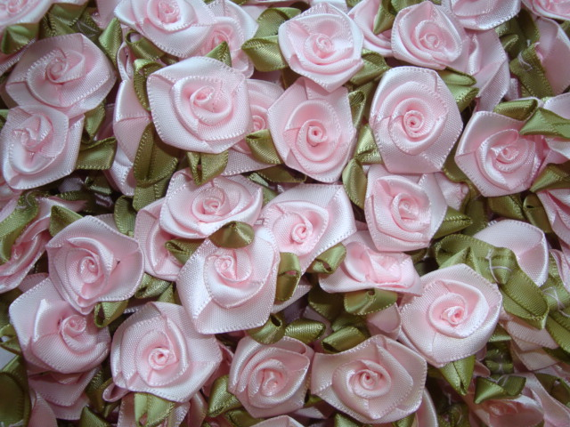 12PC PINK ROSEBUD EMBELLISHMENTS