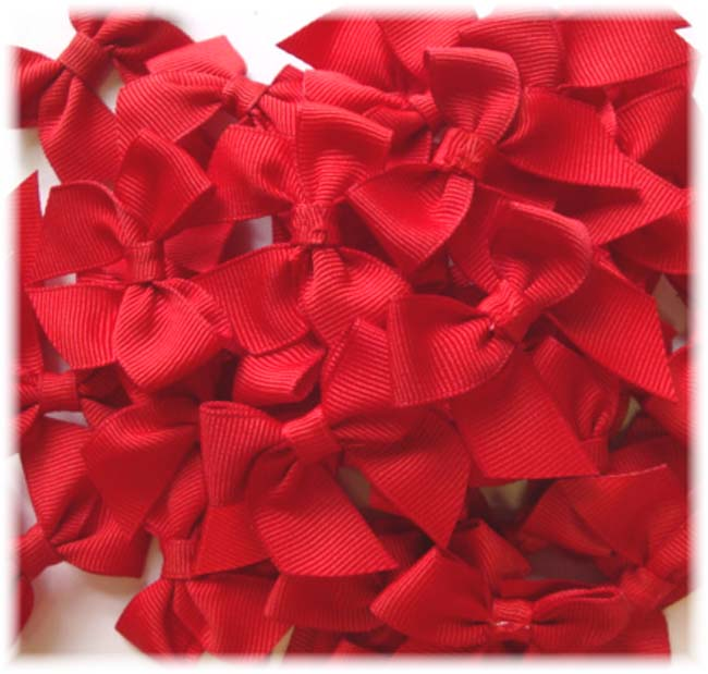 12PC RED BOW EMBELLISHMENTS
