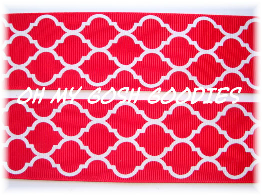 1.5 QUATREFOIL RED - 5 YARDS