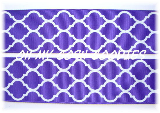 2 1/4 OOAK QUATREFOIL PURPLE - 3 YARDS