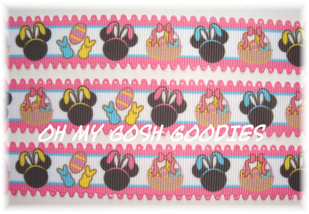 7/8 MINNIE EASTER BASKETS LOOPY - 5 Yards